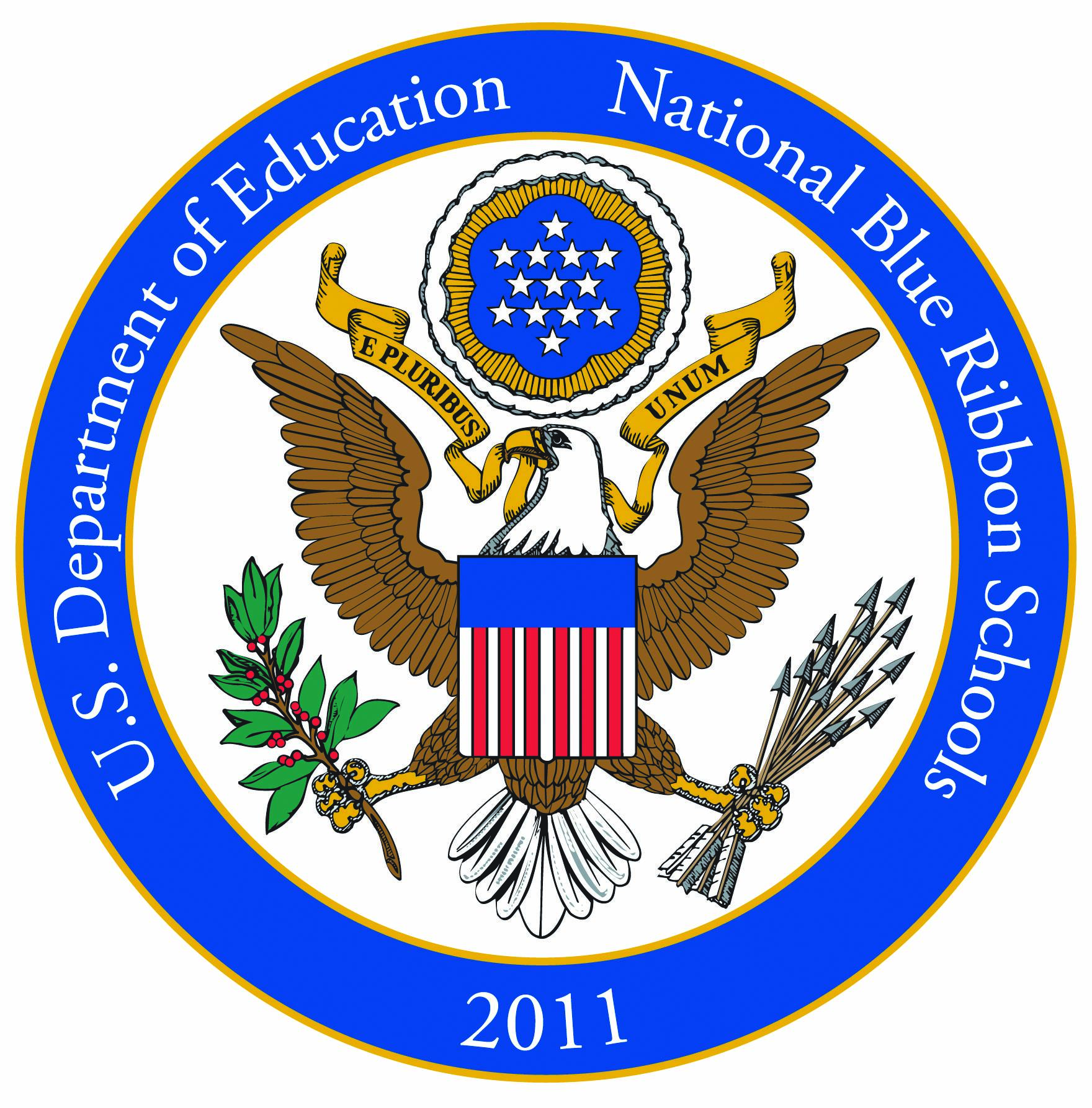 National Blue Ribbon School Seal from DOE 2011