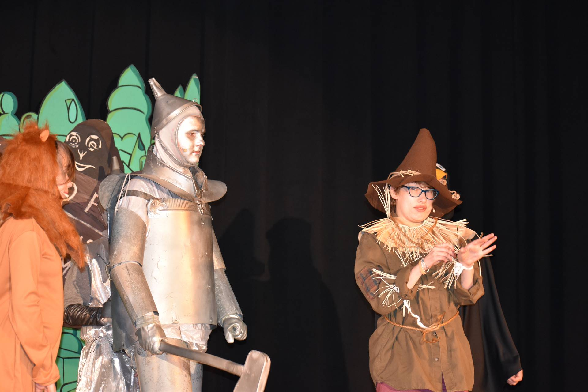 Tin Man, Cowardly Lion and Scarecrow from the Wizard of Oz junior musical